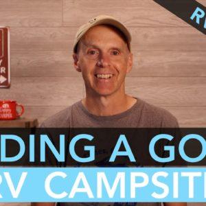Finding a Good RV Campsite - RV Newbie Tips
