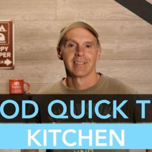 R-Pod RV Kitchen Quick Tips