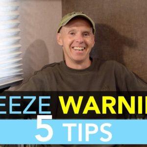 Top 5 RV Freeze Warning Tips