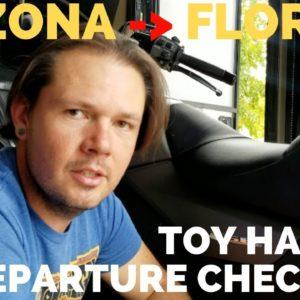RV Road Trip Arizona to Florida   Toy Hauler Pre Departure Checklist and Travel Tips