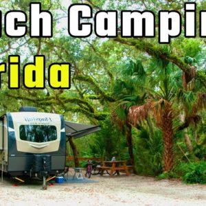 Anastasia State Park Campground Tour, St. Augustine (RV Living Full Time) 4K