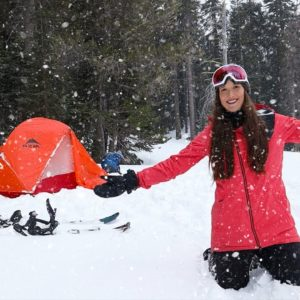 Winter Storm Camping In Tent - Snow Blizzard Camp Break From Living Van Life