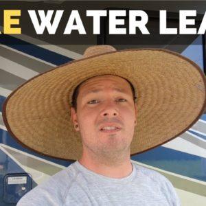 Fixing rv water leak | DIY RV Remodel | rv living full time