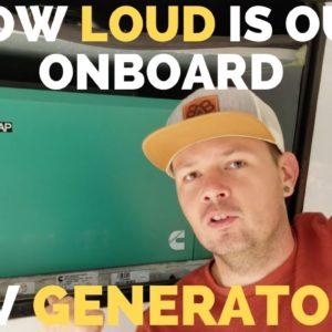 How loud is the Cummins Onan RV QC 5500 Generator on a Fifth Wheel