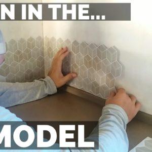 DIY RV Remodel | Peel and Stick Backsplash + Carpet Installation | Full Time RV Living
