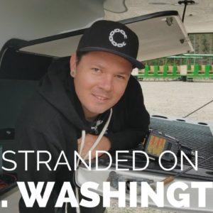 How to Manually Retract Lippert LCI Hydraulic Landing Gear // Stuck on Mt. Washington // RV Camping