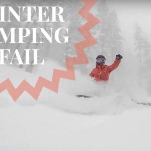 Winter Camping Fail Truck Camper Van Life Snowboard Adventure