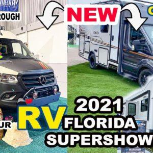 ? LIVE Florida RV SUPERSHOW 2021 -  RV TOUR EKKO, STORYTELLER OVERLAND + More (Finding our FIRST RV)