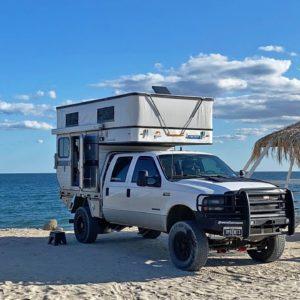 BEACH CAMPING IN BAJA CALIFORNIA, MEXICO | TRUCK CAMPER LIFE
