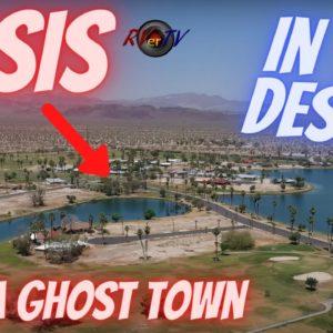 California Desert Ghost Town - Oasis - Solar Farm