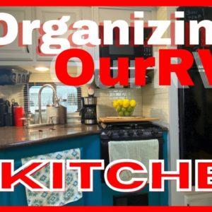 Organizing Our RV Kitchen, Tiny kitchen, Tips for RV kitchen, RV Must haves, RV Kitchen, Must haves