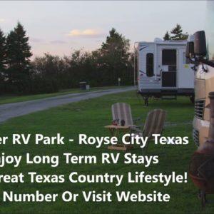 Long Term RV Park Royse City - Serving Rockwall, Hunt, Dallas And Collin County - Premier RV Park