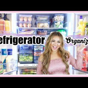 Small Refrigerator Organization & Makeover| ALL AMAZON PRODUCTS!| RV Small Space Fridge Organization
