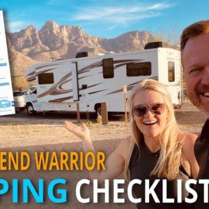Class C RV Tour & ✅ Free Camping Checklist