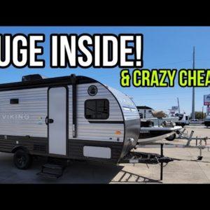 Super Small Travel Trailer RV Perfect for SUVs or small Pickups! 17BH Saga