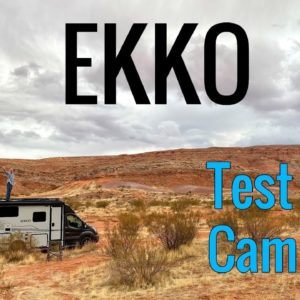 Test Camping in the Winnebago EKKO!!