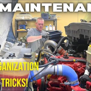RV DIY: Cummins Oil Change & Maintenance (RV Organization Tips & Tricks)